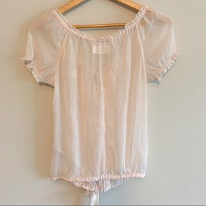 Abercrombie & Fitch Tops - 🌟 Abercrombie sheer blouse